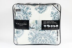 Tahari Home 10 piece Queen Size Luxury Comforter Set