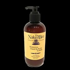 The Naked Bee Lavender & Beeswax Moisturizing Hand Body Lotion 8.0 oz Pump New