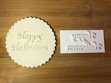 Embossing for cupcake and cake - stamps sugar paste HAPPY HALLOWEEN