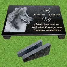 Tiergrabstein Fotogravur Grabstein Granit  Hund Katze Gedenkstein Gravur H-2