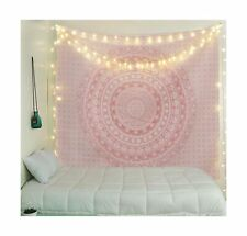 Tapestry Wall Tapestry Wall Hanging Sparkly Pink Rose Gold Ombre Mandala Large