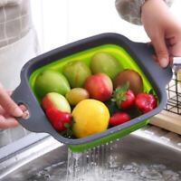 2/1 Kitchen Collapsible Colander Fruit Vegetable Filter Strainer Basket Folding