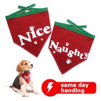 Dog Bandana/Scarf,Christmas Accessories,2 Pack Soft Triangle Bib Set Scarf -RED