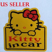 Hello Kitty With Red Bow Baby In Car Vinyl Car Sticker / Window  sticker #22