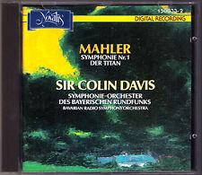 Sir Colin Davis Mahler Symphony No. 1 Titan CD 1988 symphonie-Orchestre BR Novalis