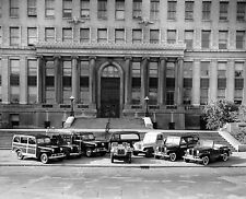 Jeep Complete line Up 1947- 48 at Court House Manufactures 8 x 10 Photograph