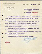 █ Facture 1913 Adrien MAGOT à Vesoul Usines Métallurgiques de Pont-Archer █