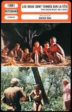 LES DIEUX SONT TOMBES SUR LA TETE - (Fiche Cinéma) 1981 - The Gods Must Be Crazy