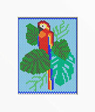 TROPICAL PARROT~PONY BEAD BANNER PATTERN ONLY