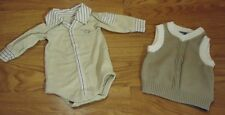 Mexx Polo One-Piece & Sweater Vest Boy 3-9M Cotton