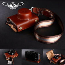 Genuine real Leather Full Camera Case bag Cover for FUJI X20 X10 Bottom Openning