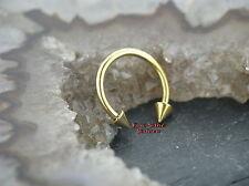 Circular barbell piercing oro line oreja pecho nariz tabique Intim Tragus labio 1,2