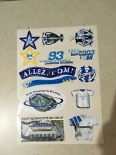 1 planche Om Sticker Autocollant Olympique de Marseille collector