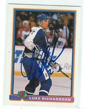 Luke Richardson Signed 1991/92 Bowman Card #167