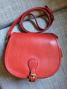 Rare Vintage Coach Saddle Bag 9851 Red