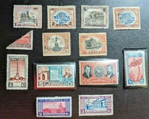 Guatemala. Scott's #s 147//283. Used to Mint. Lot of 12.  sal's stamp store.