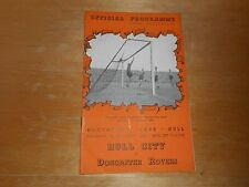 HULL CITY  v  DONCASTER ROVERS  1950/1  ~  SEPTEMBER 9th   VINTAGE   *FREE POST*
