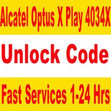 Unlock Optus X Play Alcatel 4034X IMEI unlock code - Processing time: 1-24hrs