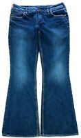 Silver Jeans Womens Aiko Distressed Blue Wash Boot Cut Jeans Size 31