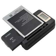 NEW UNIVERSAL BATTERY CHARGER DIGITAL LCD PLUS USB CHARGING PORT FOR SAMSUNG USA