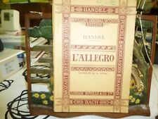 Music. L'Allegro. Handel. Novello's Original Octavo.