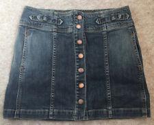 Ladies Womens Size 8 Short Blue Denim Skirt Gap