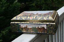 Vintage  Otto Schmidt Nurnberg  Tin Trunk Box