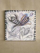 Abstract Painting, Surreal Art, Original, Fine Art 12 x 12, Acrylic, Small Art
