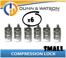 Small Chrome Compression Lock / Handle / Latch (Pop Omega Trailer Canopy ) x6