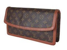 LOUIS VUITTON Pochette Dam Monogram Canvas Leather Clutch Bag LP3264