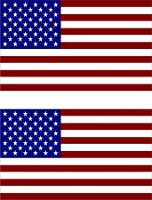 "#1061 (2) 2"" USA America Flag Decal Pannier SIde Case Helmet Sticker Laminated"
