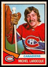 1974-75 OPC O PEE CHEE HOCKEY 297 MICHEL LAROCQUE RC EX-NM MONTREAL CANADIENS
