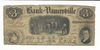 $3 1857 North Carolina Bank of Yanceyville Serial Number #9335 Men in Foundry