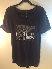 Victorias Secret 2011 Fashion Show Supermodel Embellished Bling Tee TShirt Top S