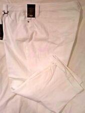 Womens CAPRI 24W Classic Fit  White Stretch Denim Mid Rise  A.N.A