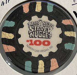 1989 MAHONEY'S SILVER NUGGET $100 Casino Chip Las Vegas Nevada