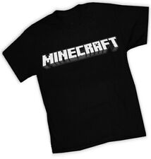 Minecraft Logo graphic tee; black with white print; size XL