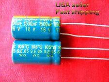 7 pc  -  1500uf  16v 105c low ESR electrolytic capacitors