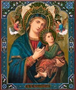 Our Lady Of Perpetual Help Christian Icon Богоматерь Неустанной Помощи