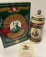 Anheuser-Busch Founders Series Adolphus Busch Lidded Collectible Stein Budweiser