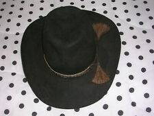 Vintage RESISTOL, STAGECOACH, Self Conforming, Black, UNION MADE Cowboy Hat