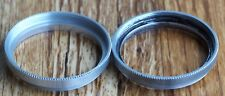 Series 6 retaining ring, double-threaded, silver | metal ser vi adapter