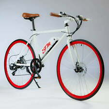"Bicicletta Elettrica Uomo 26"" IMT City Bike Rossa"