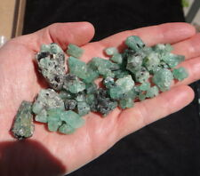 66 Gem Emerald Crystals, Bright Emerald Green Color, from Tanzania 15-22