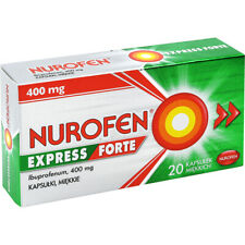 Nurofen Express Forte 400 mg soft capsules - worldwide shipping, long expiration