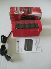 REMINGTON H-1015 CERAMIC COMPACT 10 HOT HAIR ROLLERS DUAL VOLTS CURLERS IN BOX