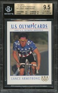 1992 Impel US Olympic Hopefuls Lance Armstrong RC ROOKIE BGS 9.5 True Gem Mint+