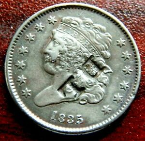1835 COUNTERSTAMPED HALF CENT ' D L'  AND POSSIBLE HOBO CARVING LOOK 4 YOURSELF!