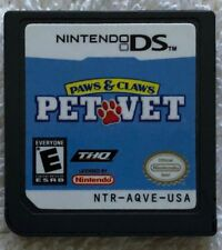 Paws & Claws Pet Vet (Nintendo DS, 2007) Cartridge, Tested Works
