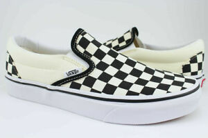 Vans Classic Slip-On - Black/White Checkerboard Checker Check -Canvas -Men/Women